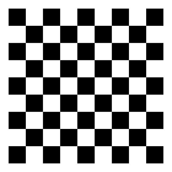 Chess board calibration pattern