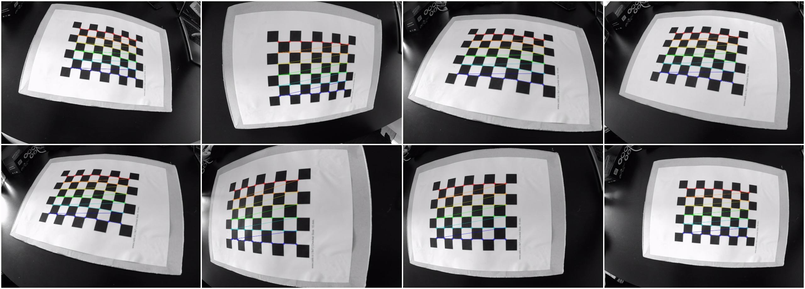 Detected chessboard corners