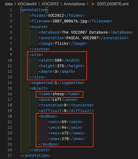 Pascal VOC 2012 - 2007_000676 XML Annotation